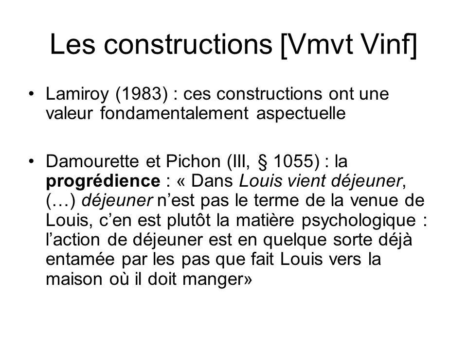 Les constructions [Vmvt Vinf]
